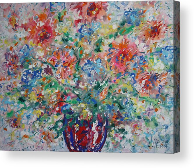 Flowers Acrylic Print featuring the painting Fresh Bouquet by Leonard Holland