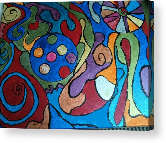 Abstract Acrylic Print featuring the painting Frinzy by Jennifer Briggs