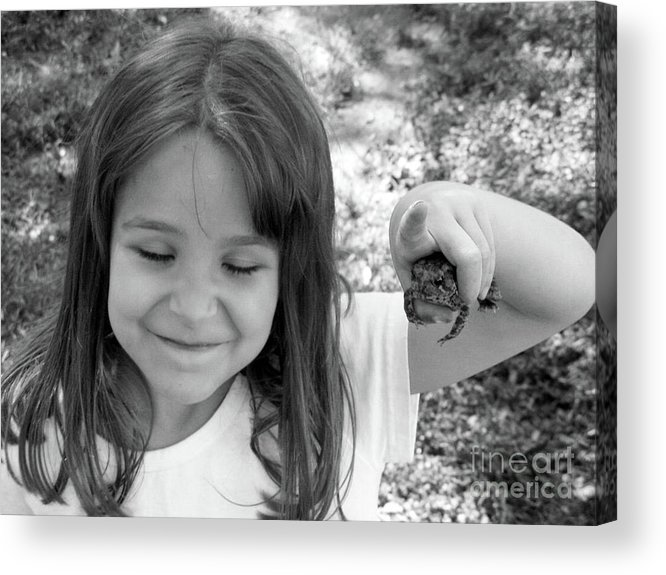 Frogs Acrylic Print featuring the photograph Froggy Smiles by Joy Tudor