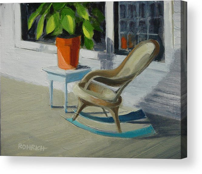 Wicker Acrylic Print featuring the painting Front Porch Memories by Robert Rohrich
