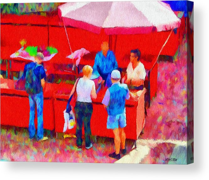 Fruit Acrylic Print featuring the painting Fruit Of The Vendor by Jeff Kolker