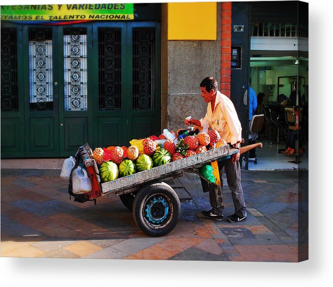 Fruta Limpia Acrylic Print featuring the photograph Fruta Limpia by Skip Hunt