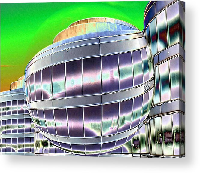 Digital Art Acrylic Print featuring the photograph Future Office Space by Carol Groenen