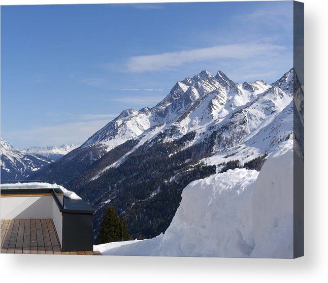 St. Anton Acrylic Print featuring the photograph Gampen St. Anton by H J Loerch