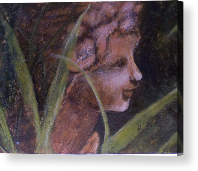 Child Acrylic Print featuring the painting Garden Nymph by Karla Phlypo-Price