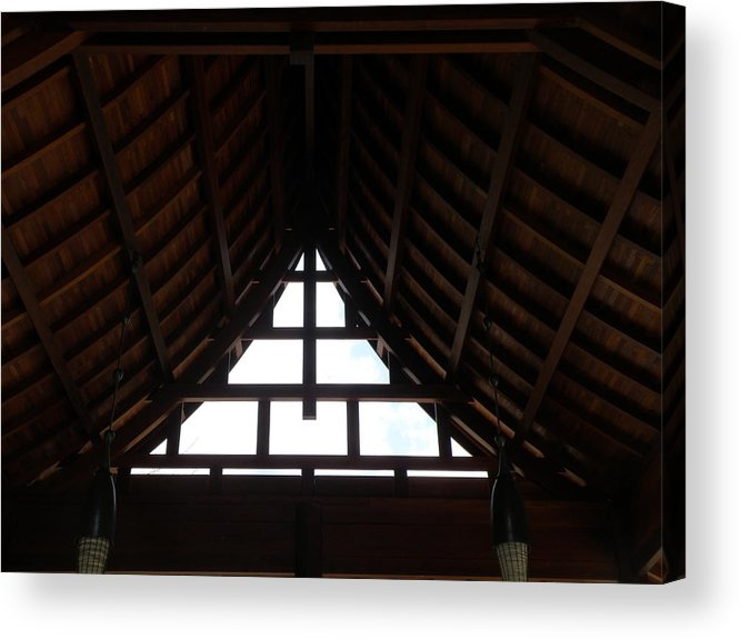 Window Acrylic Print featuring the photograph Gazing Up by Mary Hurst
