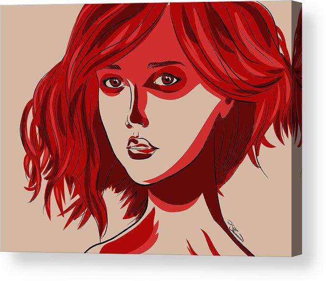 Digital Acrylic Print featuring the digital art Giselle by D Scott Richardson