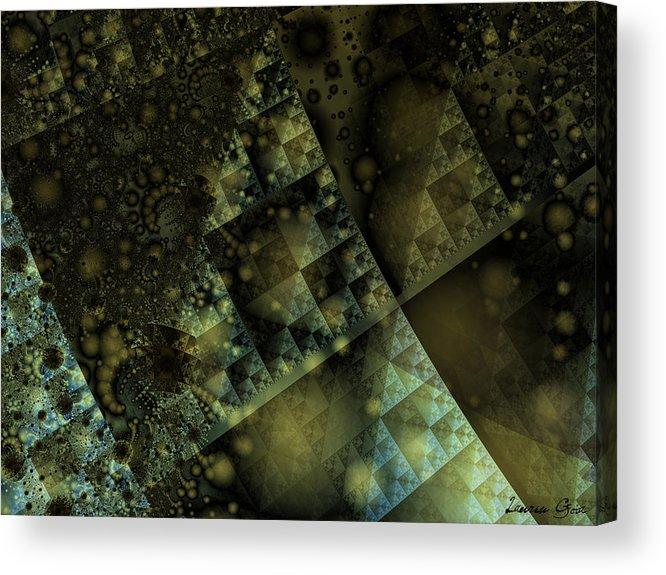 Pyramid Acrylic Print featuring the digital art Giza by Lauren Goia