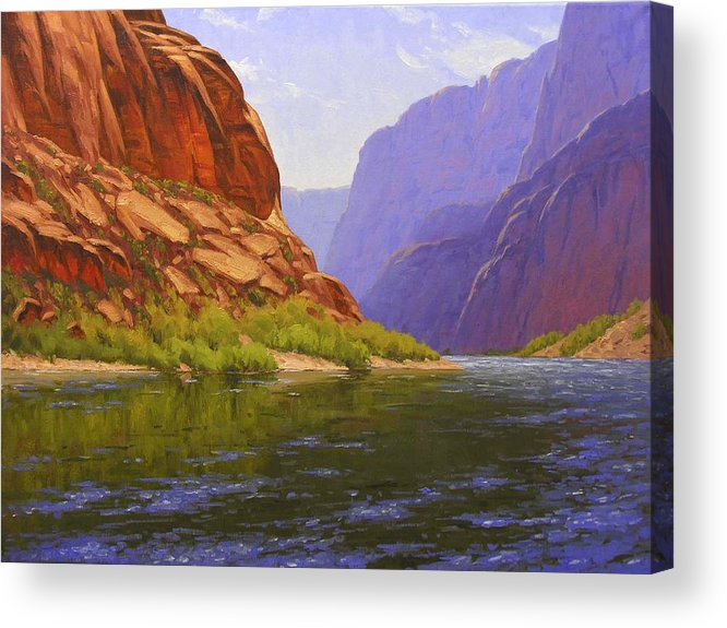 Cody Delong Acrylic Print featuring the painting Glen Canyon Morning by Cody DeLong