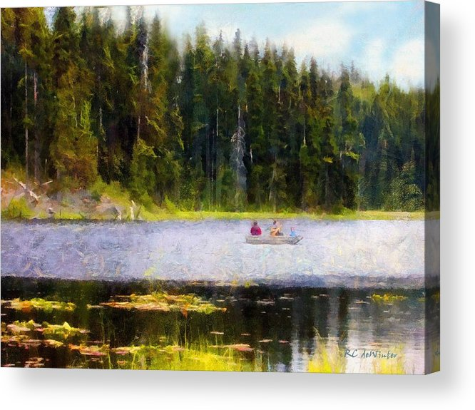 Boating Acrylic Print featuring the painting Gliding Along by RC DeWinter