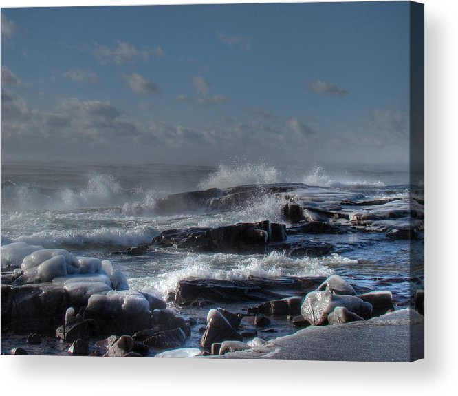 Lake Superior Acrylic Print featuring the photograph Glistening Sparkle by Tingy Wende