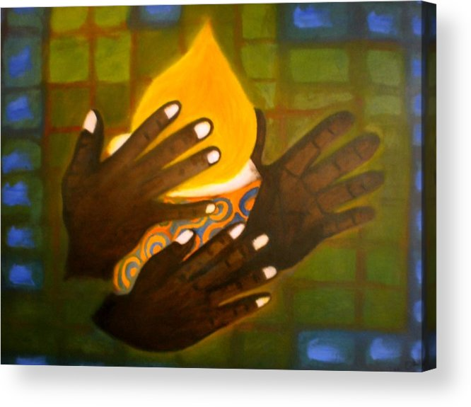Glory Acrylic Print featuring the painting Glory by Philip Okoro