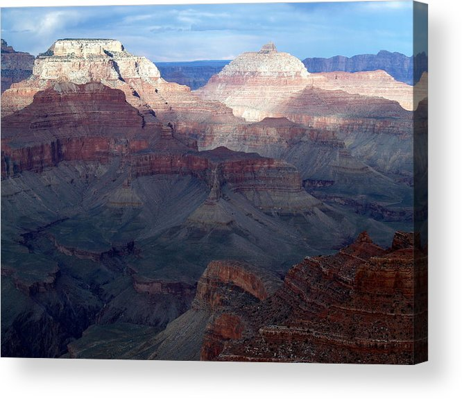 Grand Canyon Acrylic Print featuring the photograph Glowing Vishnu by Carrie Putz