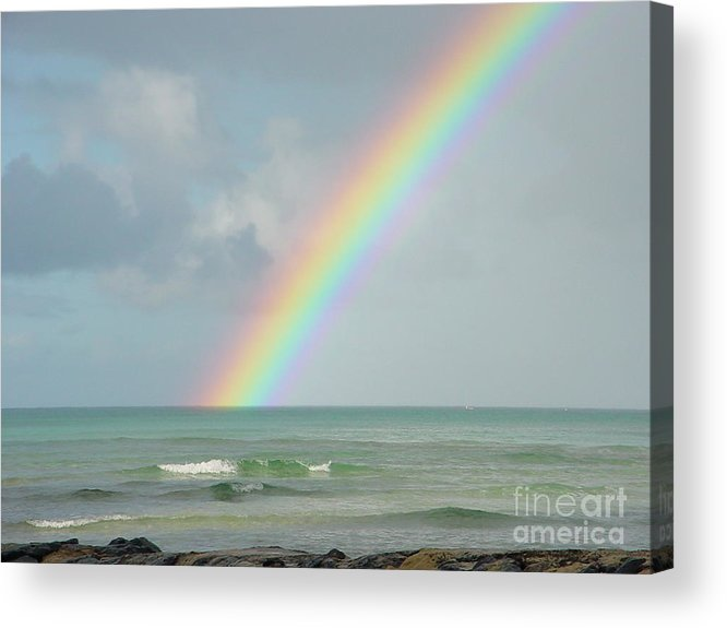 Rainbow Acrylic Print featuring the photograph Gods Smile by PJ Cloud