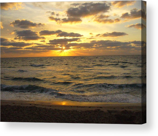 Seahsore Acrylic Print featuring the photograph Golden Sunrise by Peggy King