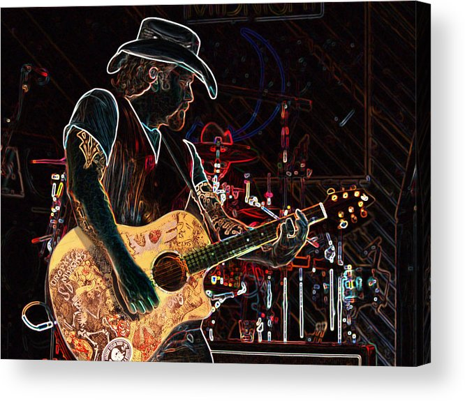 Guitar Acrylic Print featuring the photograph Graffiti Guitar by Torri Bates