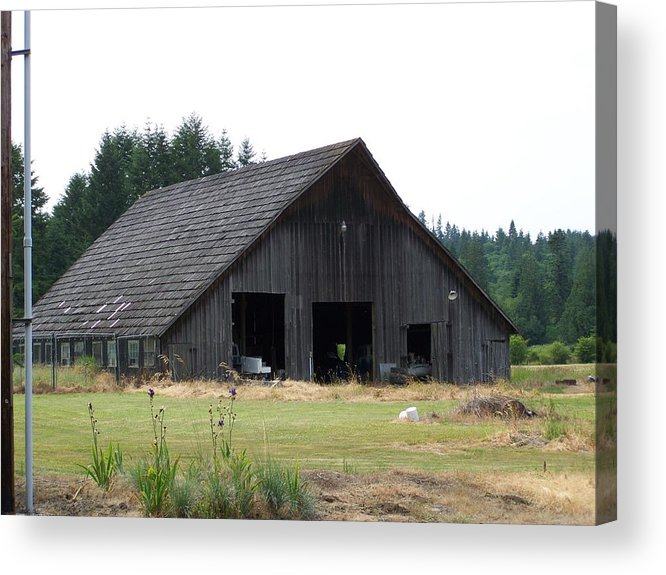 Barn Acrylic Print featuring the photograph Gray Barn   Washington State by Laurie Kidd