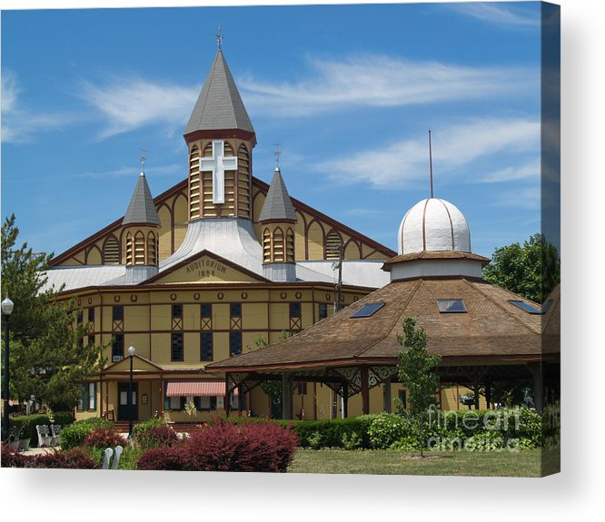Church Acrylic Print featuring the photograph Great Auditorium Of Ocean Grove New Jersey by Anna Lisa Yoder
