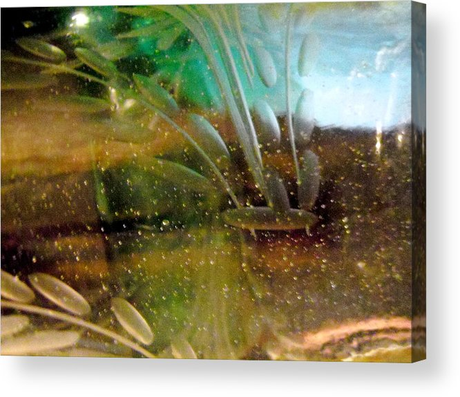 Underwater Abstract Acrylic Print featuring the photograph Green 17 by Stephanie Moore