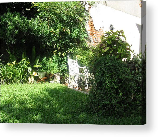 Courtyard Acrylic Print featuring the photograph Green Door 21 by Tom Hefko