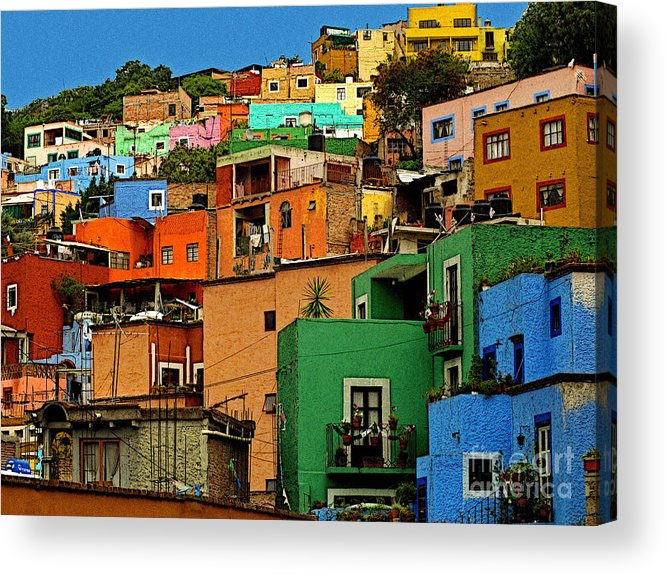 Darian Day Acrylic Print featuring the photograph Guanajuato Hillside 1 by Mexicolors Art Photography