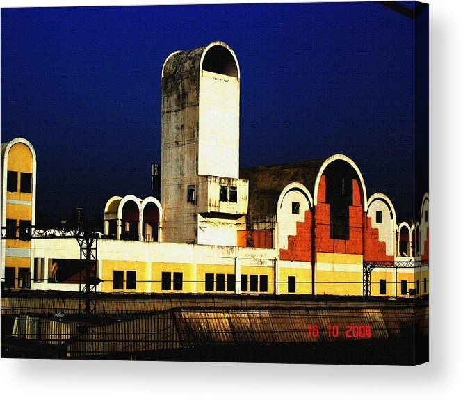 Buildings Acrylic Print featuring the photograph Habibganj Railway Station by Padamvir Singh