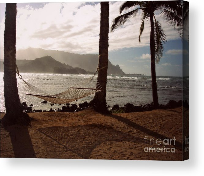 Wright Acrylic Print featuring the photograph Hammock Shadow by Paulette B Wright