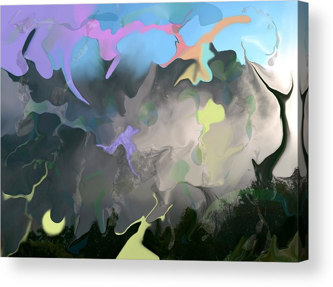 Mist Acrylic Print featuring the digital art Haper's Ferry Spirits by Peter Shor