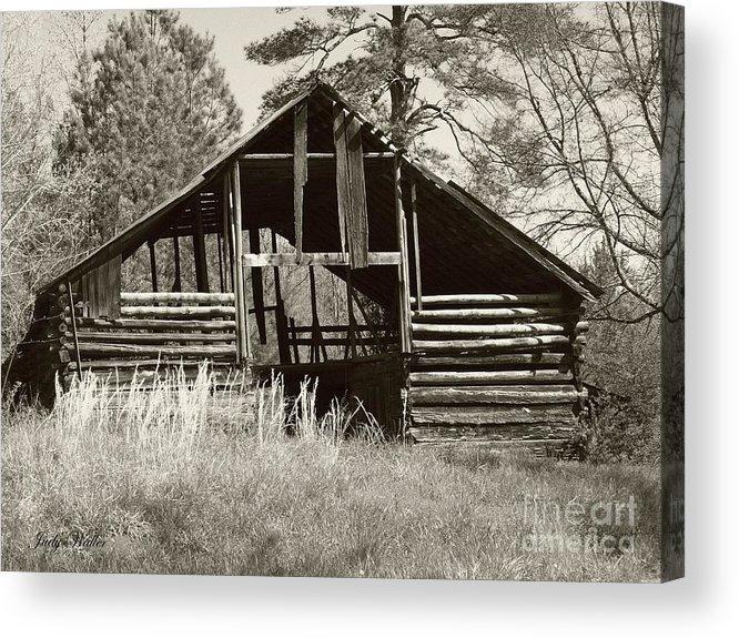 Barn Acrylic Print featuring the photograph Hay Barn by Judy Waller