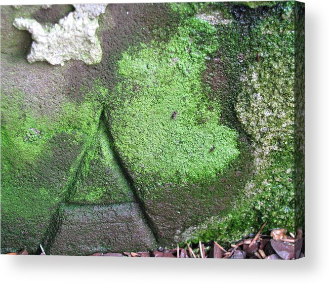 Stone Carving Acrylic Print featuring the photograph Hidden Meaning by Belinda Consten