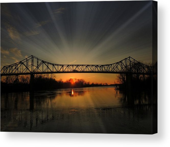 Bridge Acrylic Print featuring the photograph Historic Bridge by Delana Epperson
