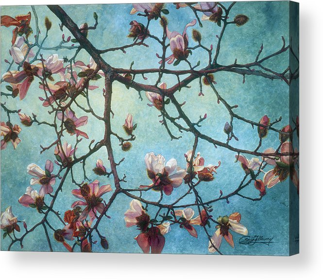 Blossoms Acrylic Print featuring the painting Homage To Vincent by Craig Gallaway