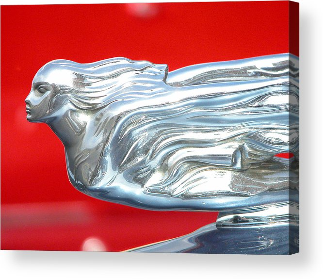 Cars Acrylic Print featuring the photograph Hood Ornament by Mary Pearson