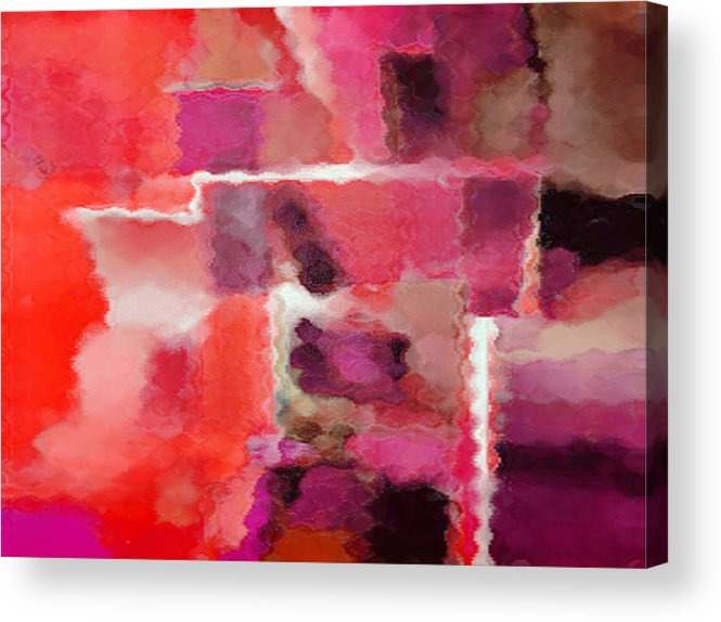 Digital Acrylic Print featuring the painting Hot Colors by Vicky Brago-Mitchell