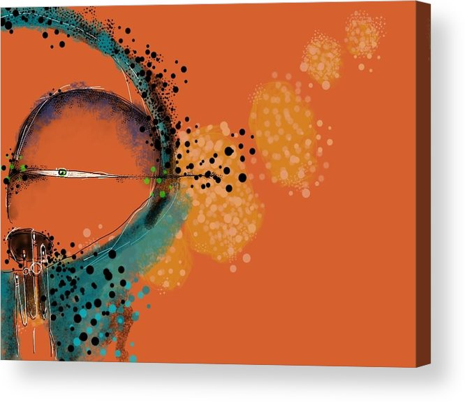 Digital Painting Acrylic Print featuring the digital art Hunger by Mark M Mellon
