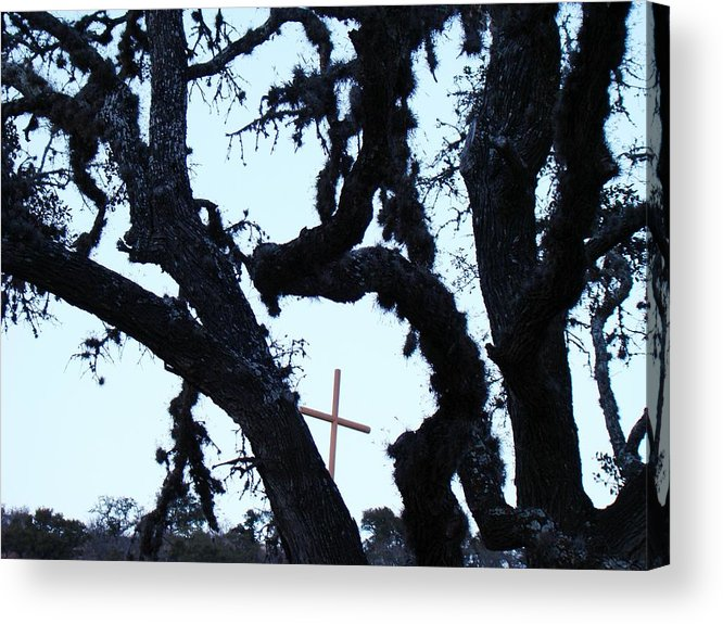 Cross Acrylic Print featuring the photograph Hwy 87 Cross Two by Ana Villaronga