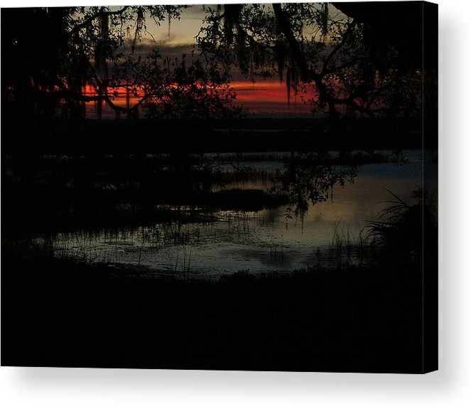 Water Scapes Acrylic Print featuring the photograph I Happend To Be Up Early by Donna Thomas