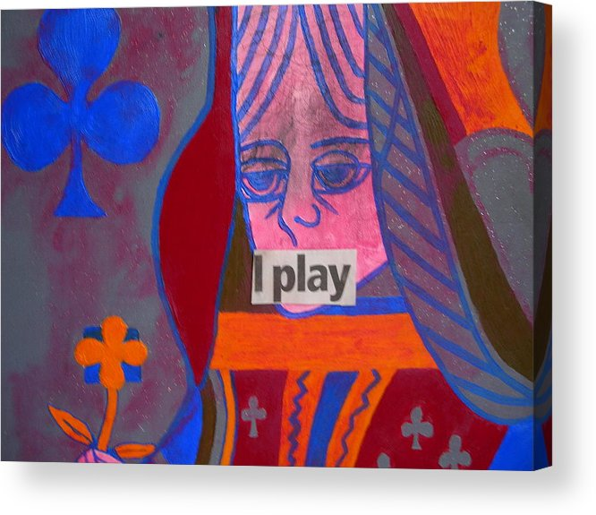 Queen Acrylic Print featuring the painting I Play by Heinrich Haasbroek