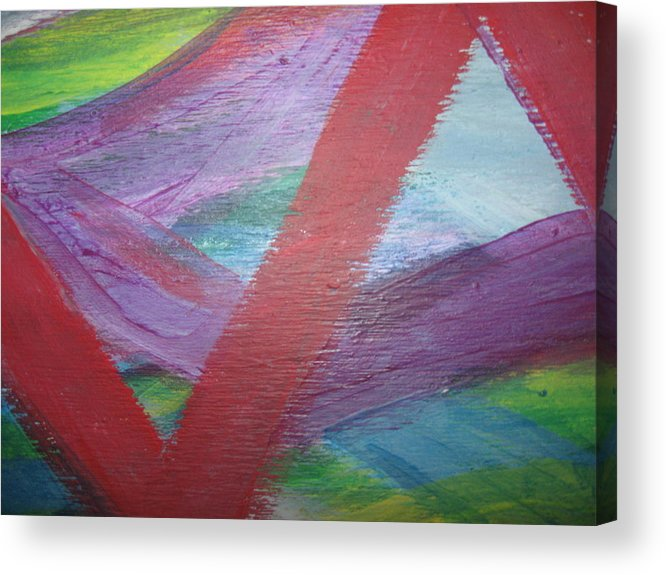 Fear Acrylic Print featuring the painting Imminent Immobility by Paula Andrea Pyle