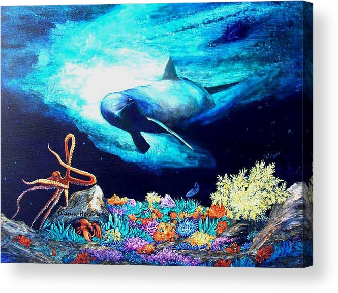 Whale Acrylic Print featuring the painting Imposing Gaze by Dianne Roberson