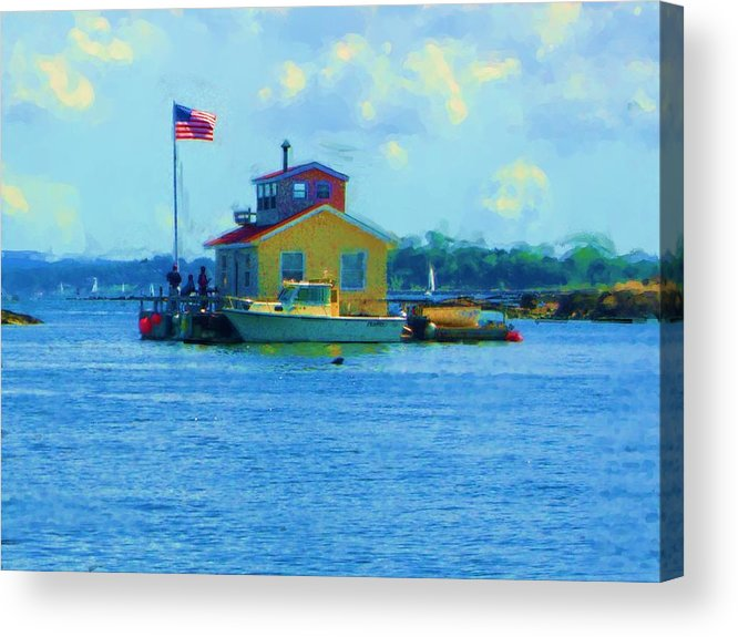Acrylic Print featuring the painting Impossible House Boat - New York by Jonathan Galente