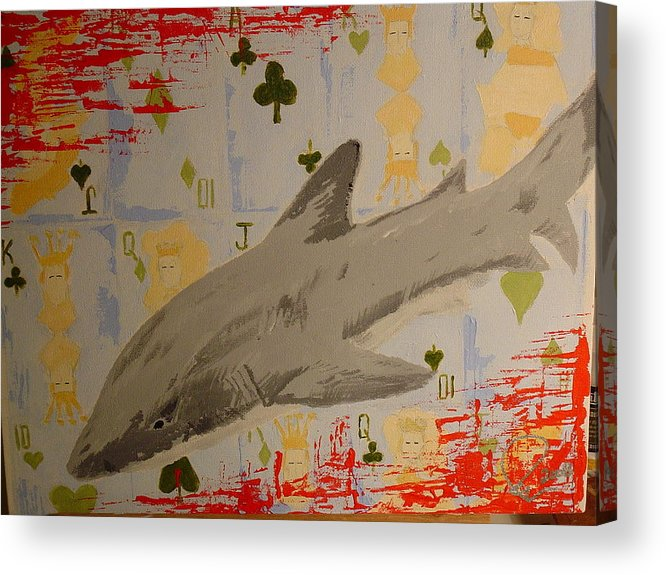 Card Game Acrylic Print featuring the painting Infested Game by Raymond Nash