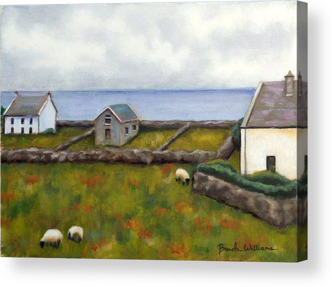 Oil Acrylic Print featuring the painting Inishmore Island by Brenda Williams