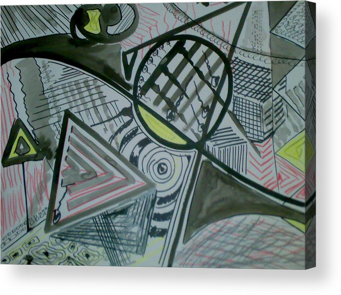Ink Acrylic Print featuring the drawing Ink by Karim Baziou