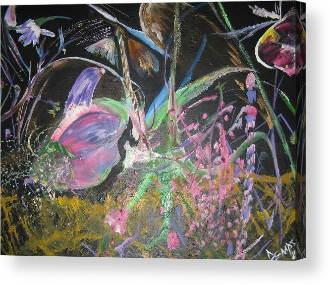 Abstract Acrylic Print featuring the painting Innocense by Impressionist FineArtist Tucker Demps Collection