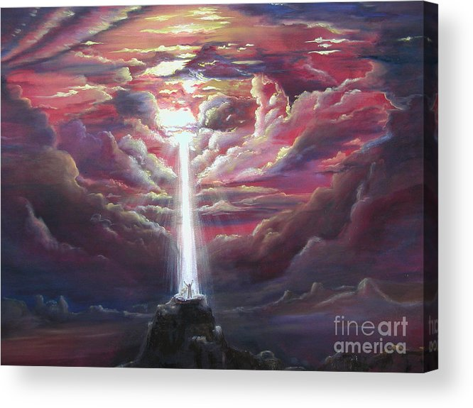 Spiritual Acrylic Print featuring the painting Intercession Through Worship by Kathy Brusnighan