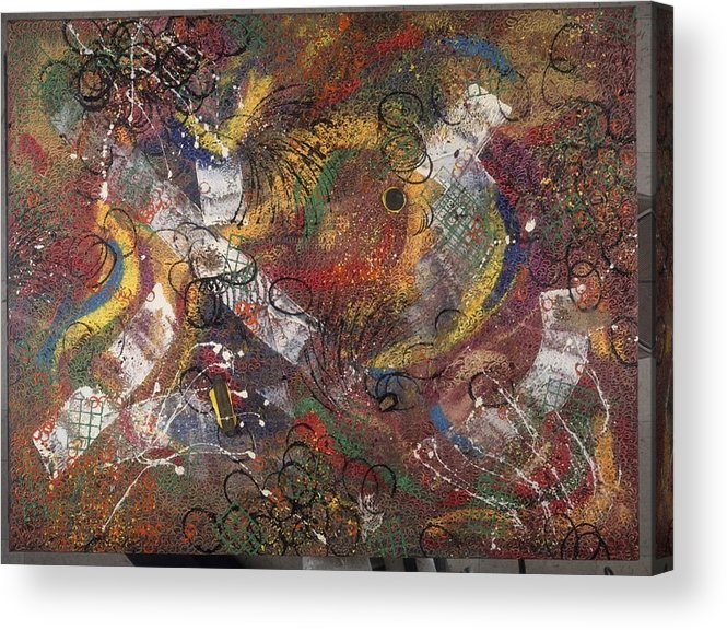 Abstract Acrylic Print featuring the painting Introuvable Ailleurs by Dominique Boutaud