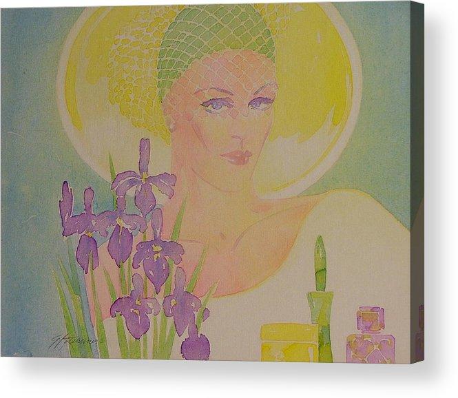 Female Acrylic Print featuring the painting Iris Eyes by Gary Kaemmer