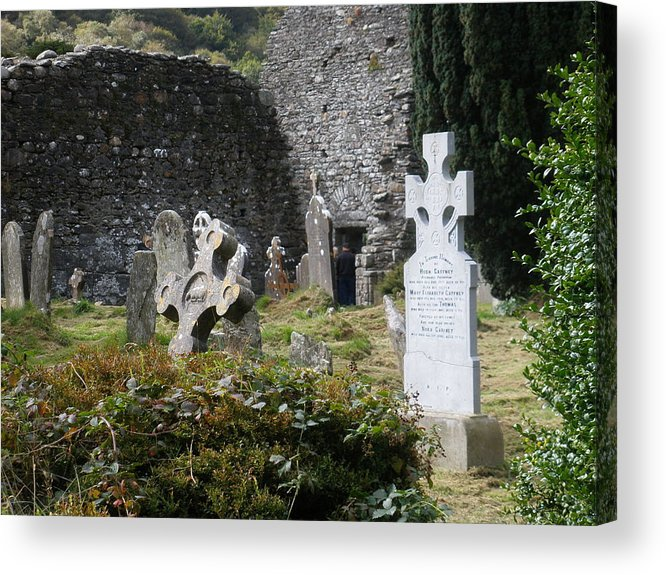 Graveyard Acrylic Print featuring the photograph Irish Graves by Siobhan Yost
