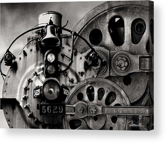 Steam Engine Acrylic Print featuring the photograph Iron Circles No. 1 by Joe Bonita